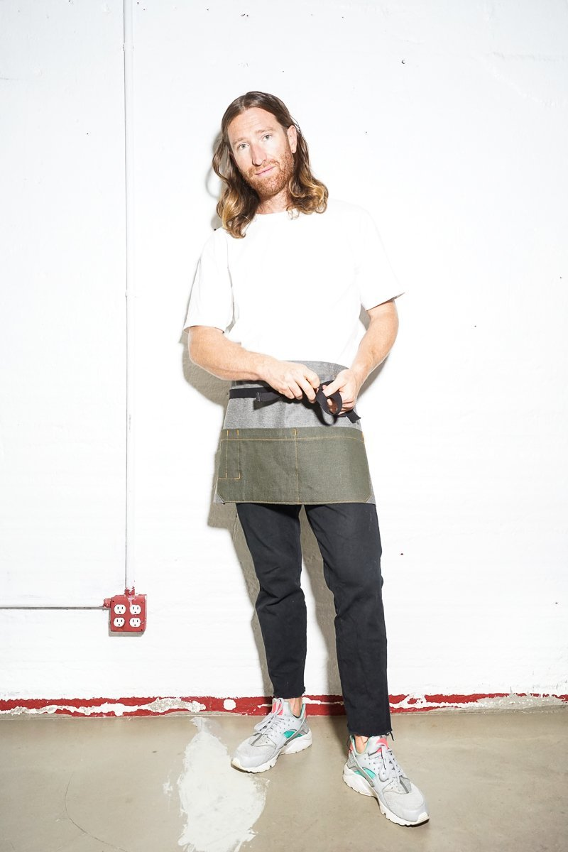 Shorty Server Apron - Olive - Valentich Goods
