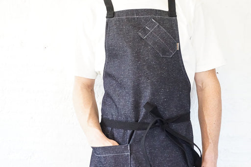 Speckled Indigo Chef Bib Apron - Valentich Goods