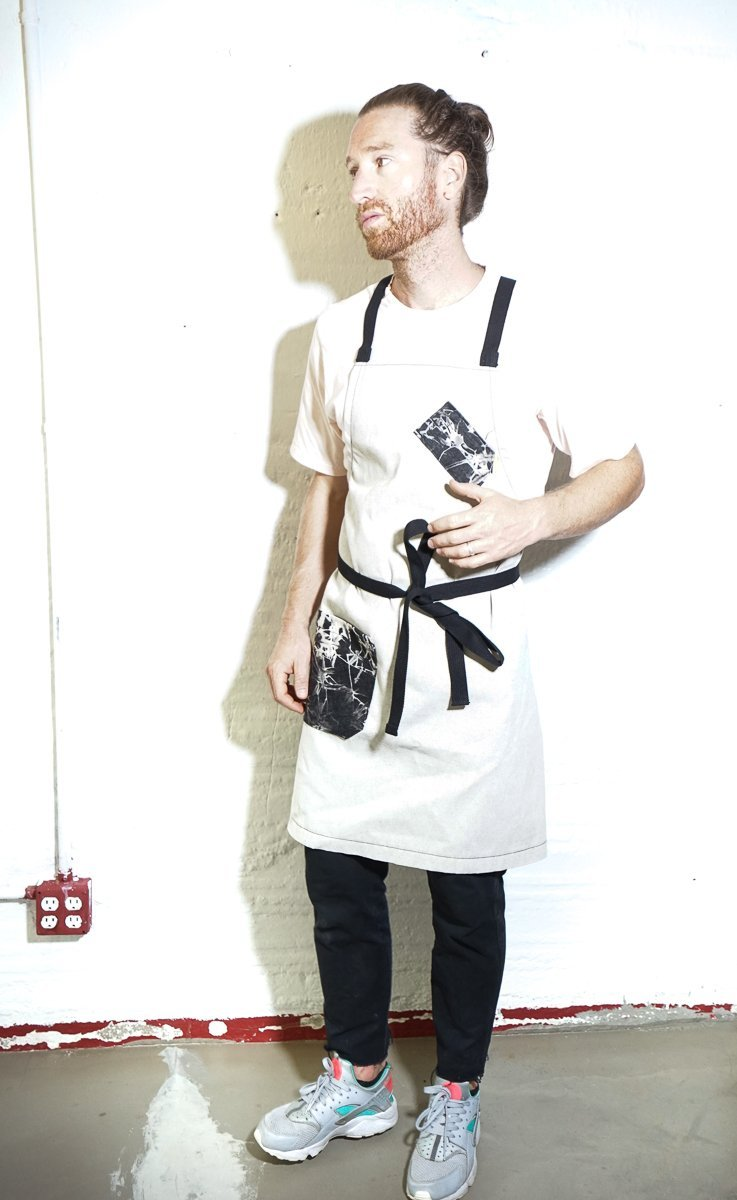 White + Black Tie Dye Chef Apron - Limited Edition - Valentich Goods