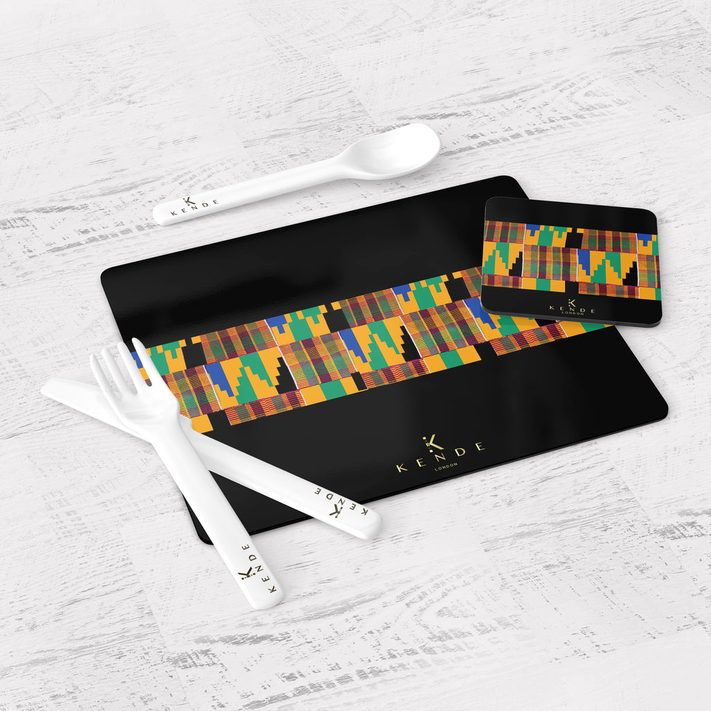 Thema Black Placemats & Coasters
