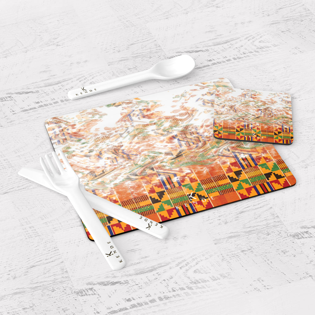 Zaina Flame Placemats and Coasters
