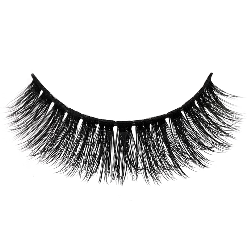3 Pairs natural false eyelashes thick 3D mink lashes soft eyelash extension - LM cosmetics