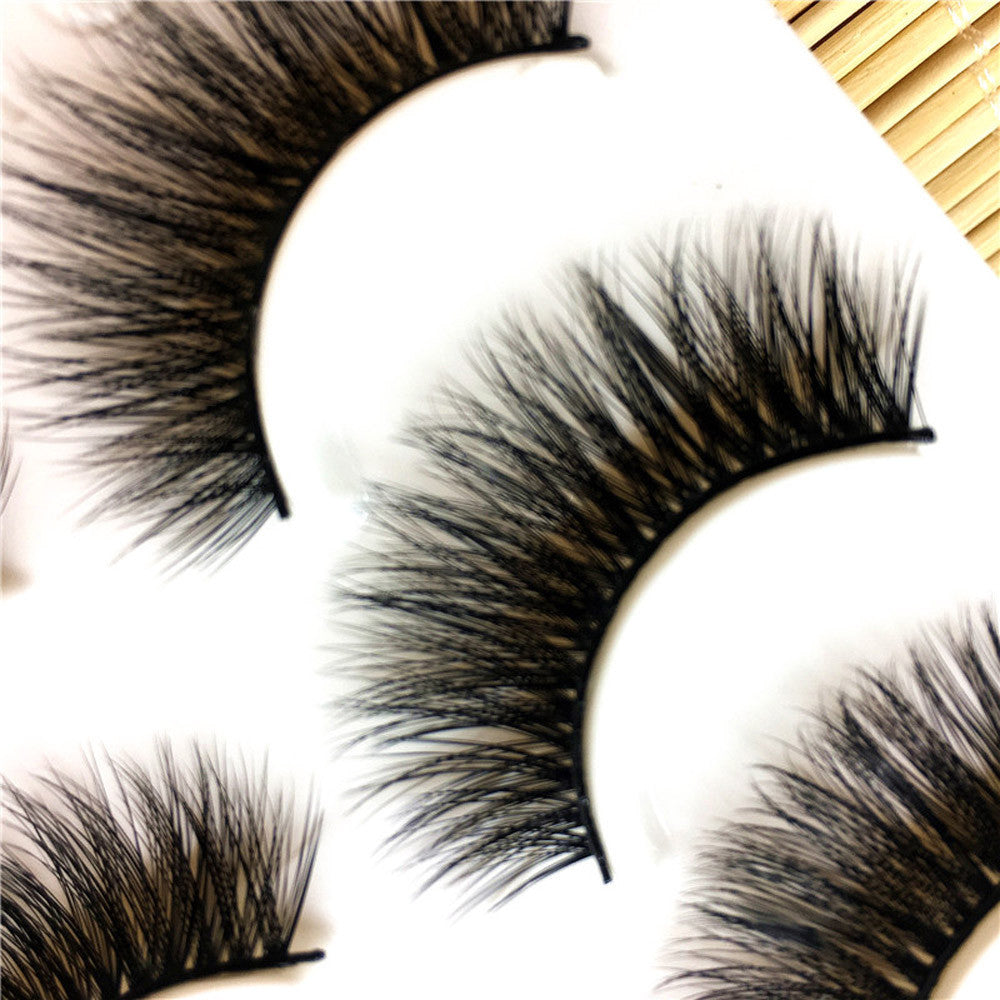3 Pairs Long False Eyelashes Makeup Natural Thick Black Eye Lashes - LM cosmetics