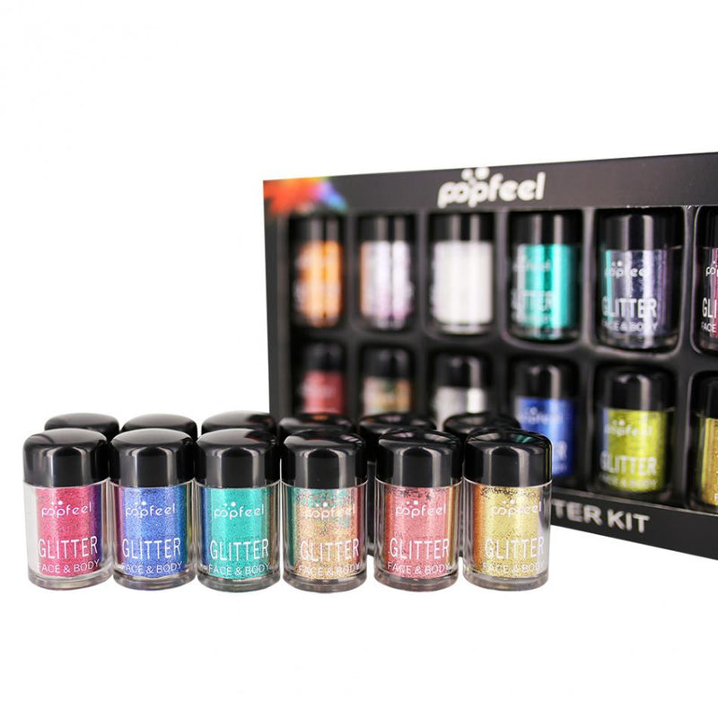 12pcs Metallic Glitter - LM cosmetics