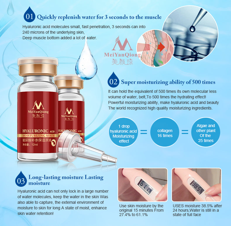 MeiYanQiong Hyaluronic Acid Face Serum Anti Wrinkle Anti Aging Moisturizing - LM cosmetics
