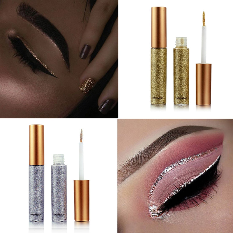 2018 Shimmer Glitter Eyes Liner For Women Make Up Easy to Wear Waterproof Pigment - LM cosmetics