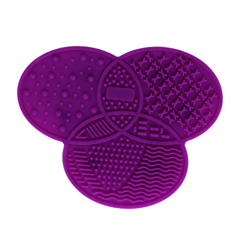 Silicone Makeup Brush Cleaner Portable Makeup Washing Mat Travel - LM cosmetics
