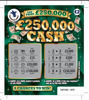 Fake Lottery Scratchcards
