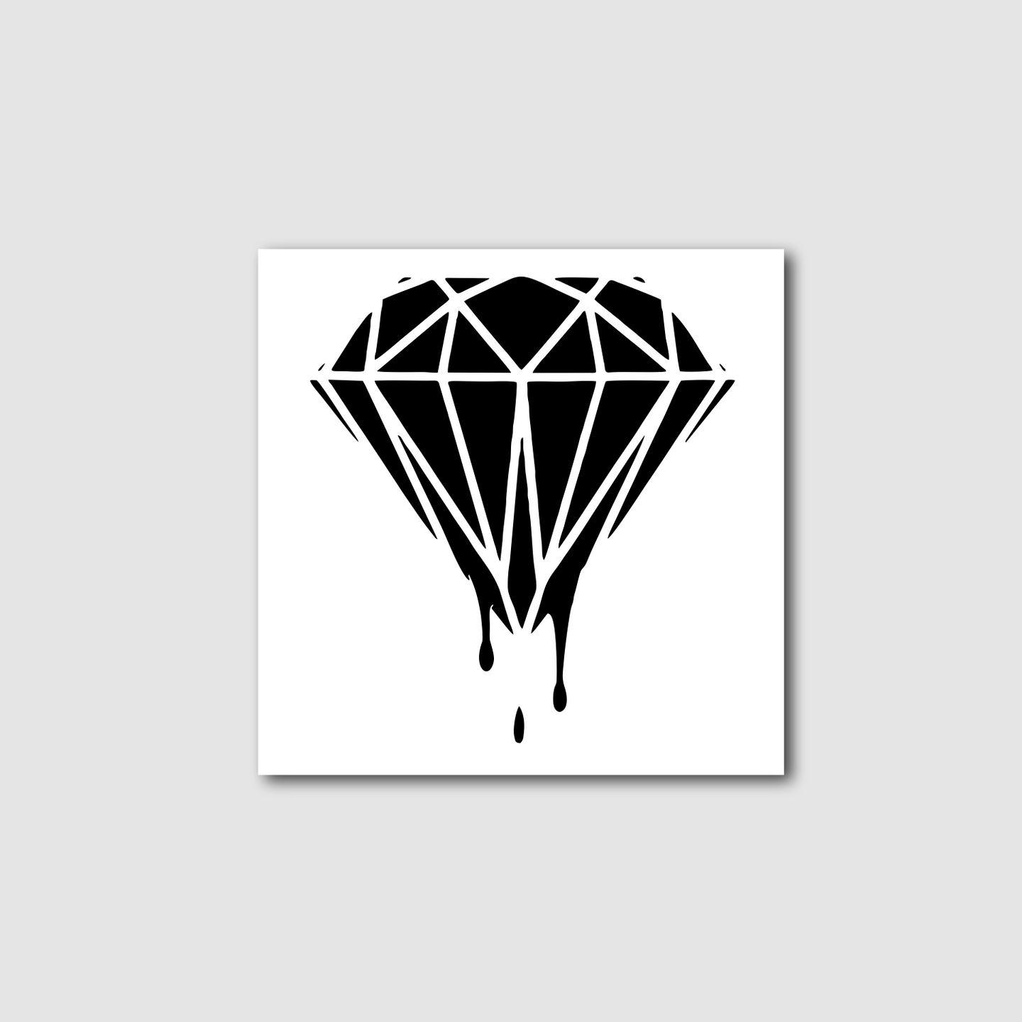 Dripping Diamond Decal