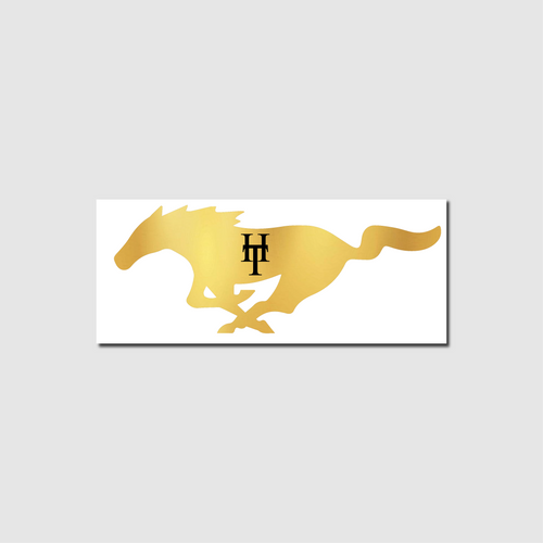 HeadTurners Golden Mustang Sticker