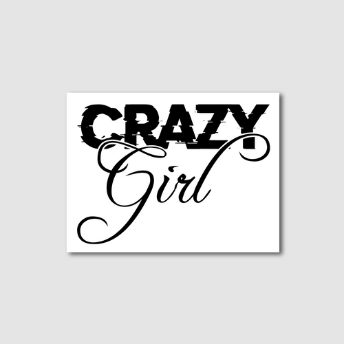 Crazy Girl Decal