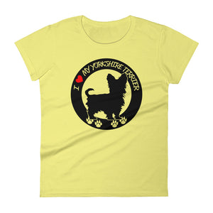 I Love My Yorkshire Terrier Tee