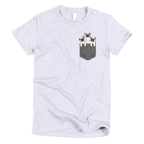 Pocket Pug Women T-Shirt