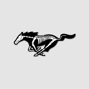 Skeleton Pony Sticker