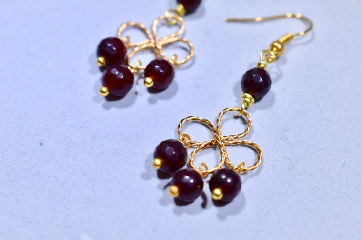 Brown Jade Earrings - Golenza Gallery
