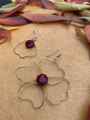 Red Agate Earrings