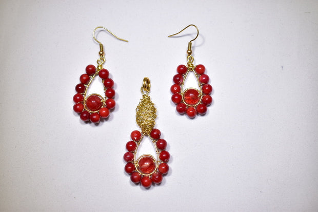 Red Agate Stone Set