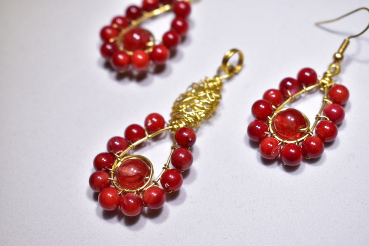 Red Agate Stone Set - Golenza Gallery