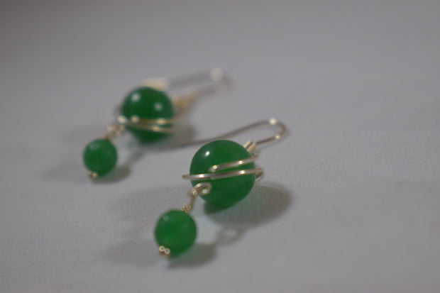 Green Jade Earrings