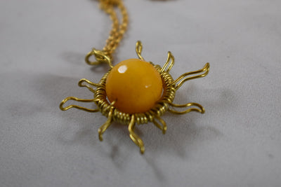 Yellow Jade Necklace - Golenza Gallery