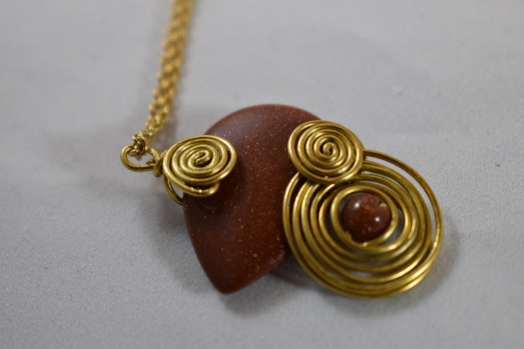 Brown Aventurine Necklace - Golenza Gallery
