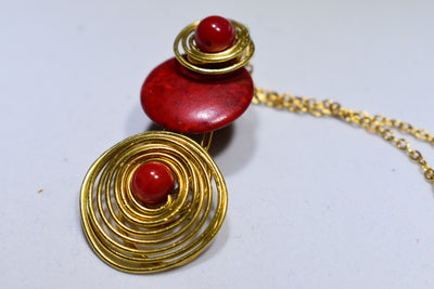 Red Coral Nacklace - Golenza Gallery