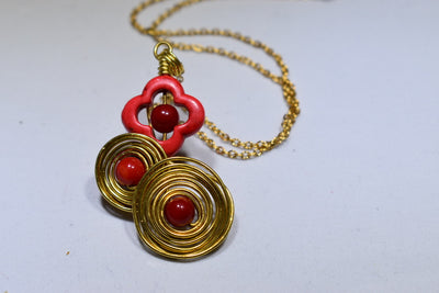 Red Coral Necklace - Golenza Gallery