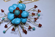 Turquoise and Agate Necklace - Golenza Gallery