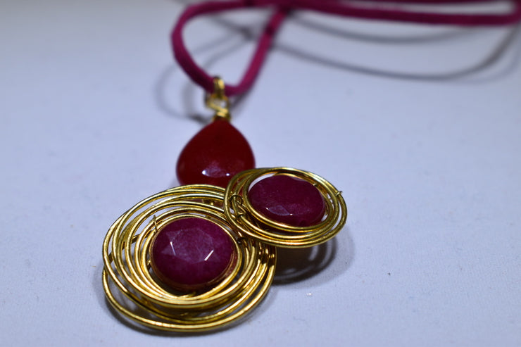 Red Jade Necklace - Golenza Gallery