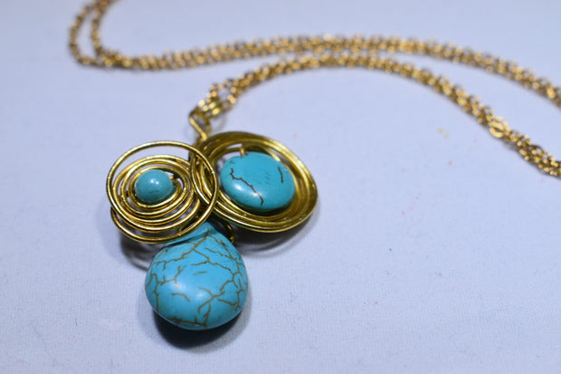 Turquoise Necklace - Golenza Gallery