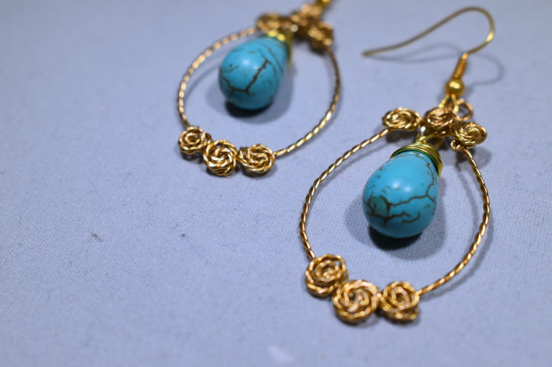 Turquoise Earrings - Golenza Gallery