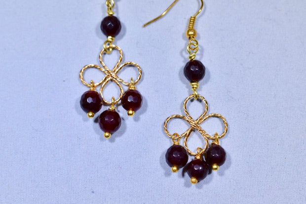 Brown Jade Earrings