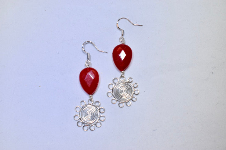 Red Jade Earrings