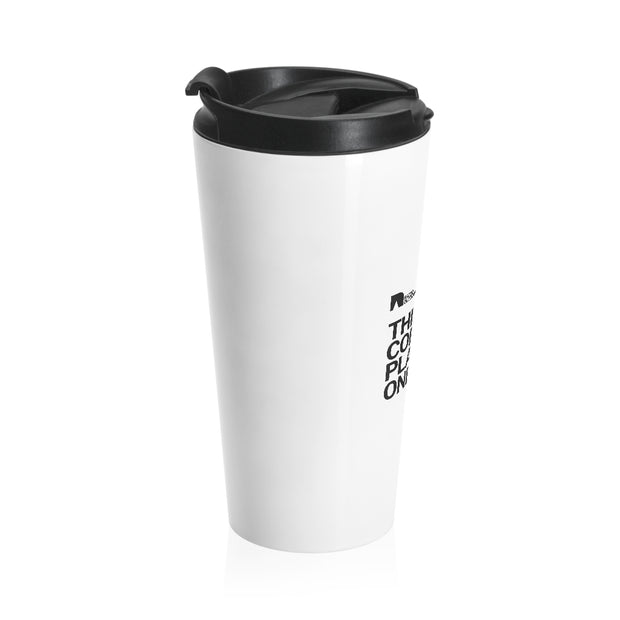Rated Outdoors Coffee Tumbler - Stainless Steel, 15oz | Vacuum-Insulated Stainless Steel Travel Mug