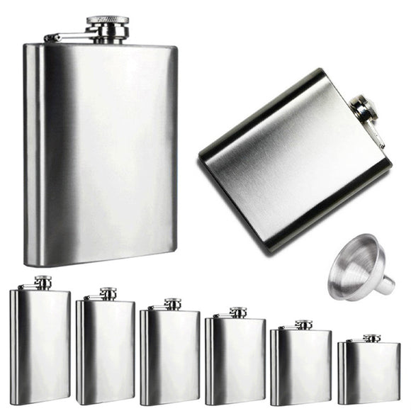 Stainless Steel Flasks with Funnel