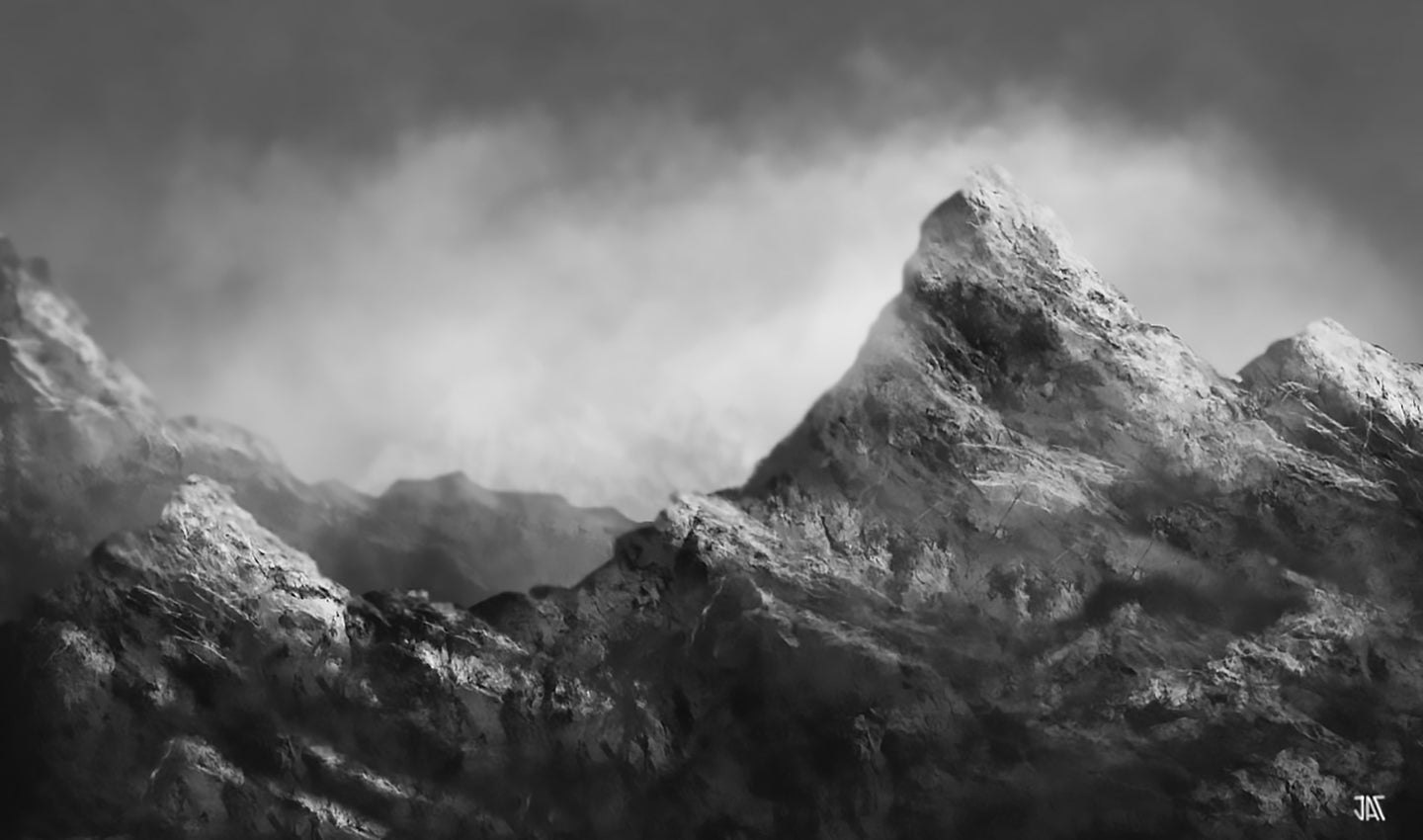 Cloudy Mountains - Digital Download