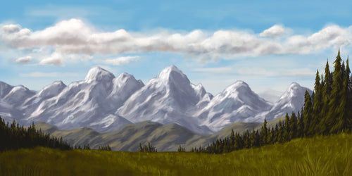 Ered Luin/Blue Mountains - Print (2 Sizes Available)