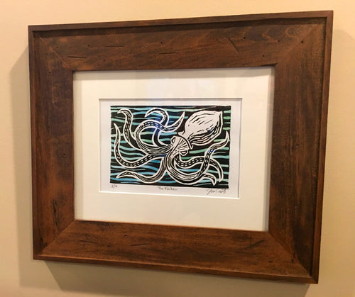 Watcher in the Water - Handmade Print & Frame