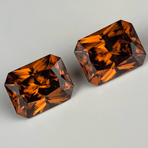 6.81 cts Zircon matched pair