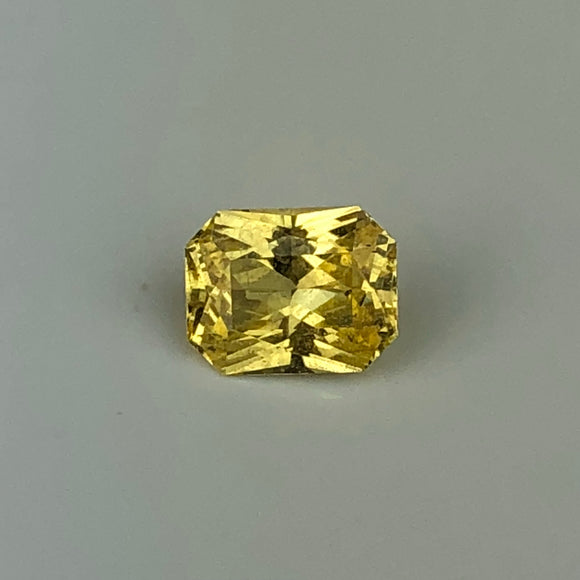 .86 cts bright yellow sapphire