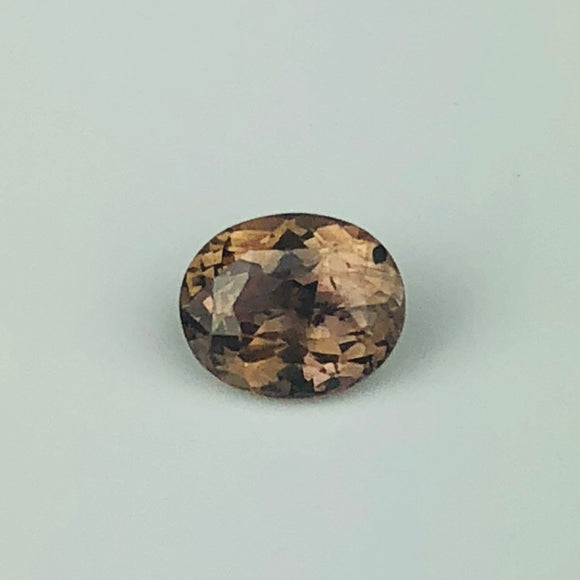.88 cts peachy brown sapphire