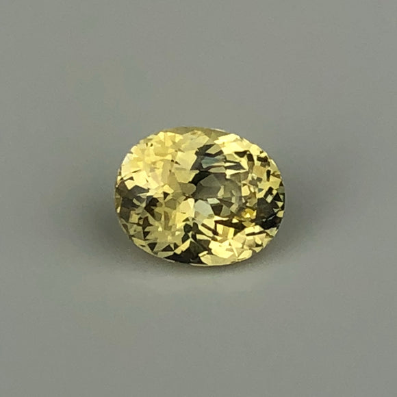 1.33 cts bright yellow sapphire
