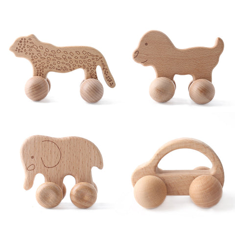 1pc Organic Wooden Car Shape For Babies BPA Free Wood Teether Kids Brain Game Toys Handmade Crafts Gift Beech Wood Child Blocks