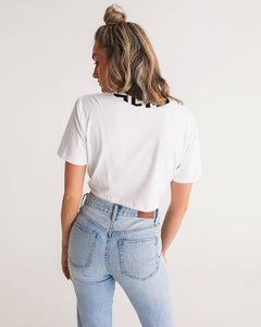 No Fear Collection Women's Twist-Front Cropped Tee