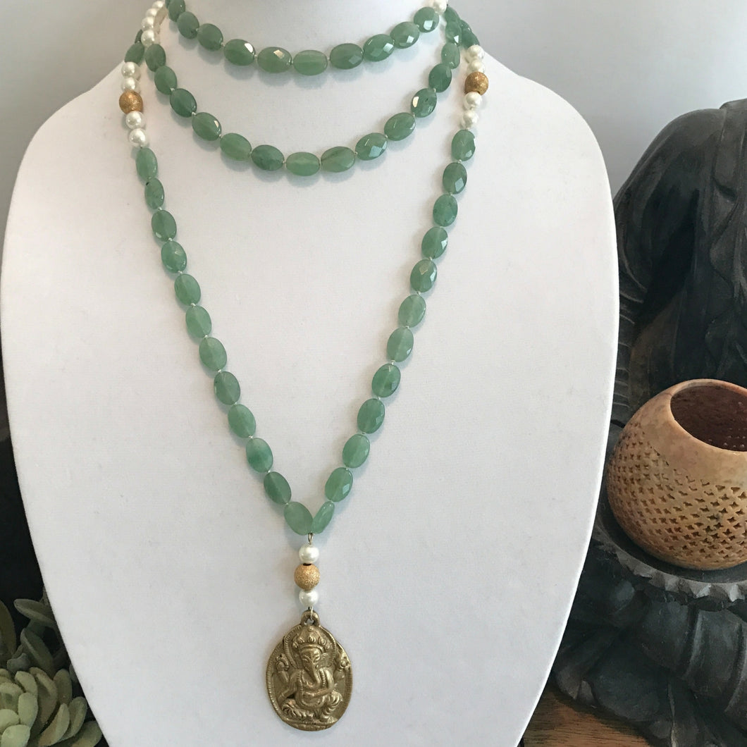 Aventurine Money Mala