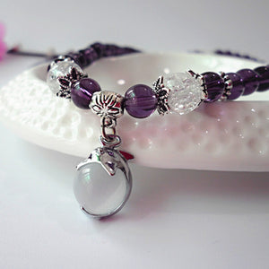Purple Crystal Meditation Mala