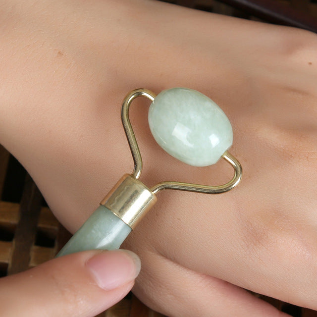 Jade Facial Massage Roller Natural