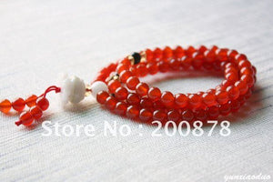 Red Carnelian  Meditation Prayer Mala