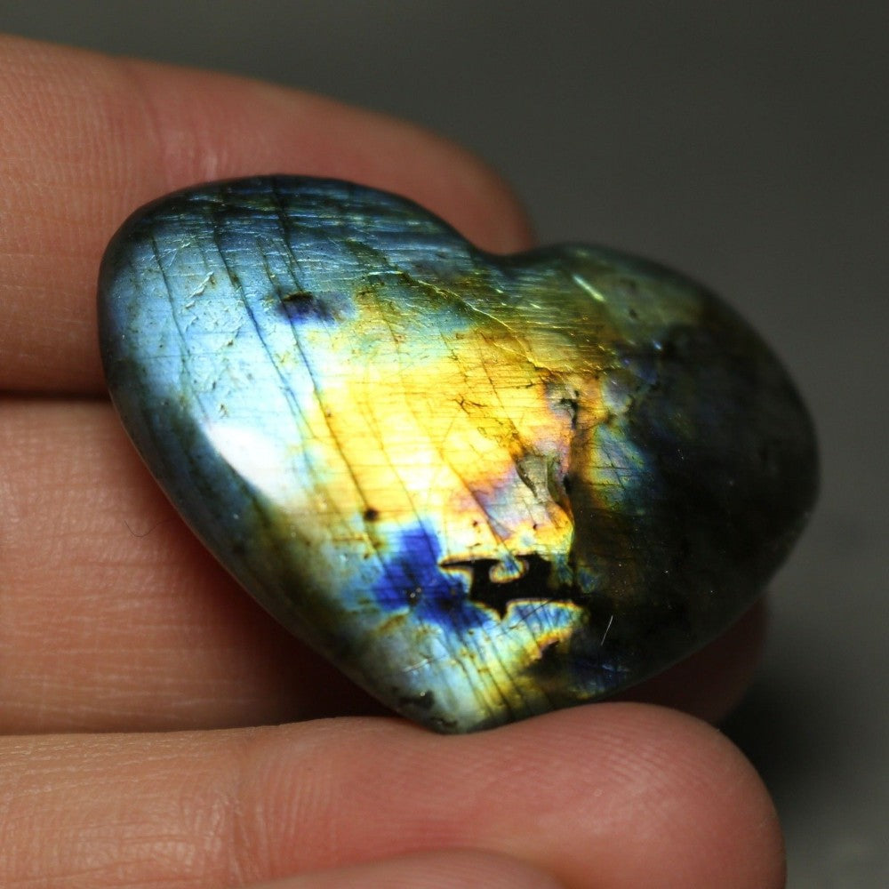Heart Shaped Labradorite Crystal