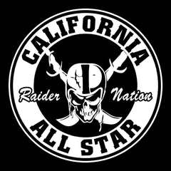 Cali All Star - Raiders 4 Life Decal/Window Sticker